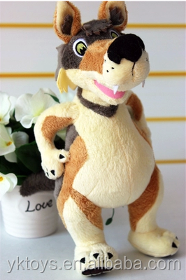 Cheap price stuffed animal brown wolf plush toy