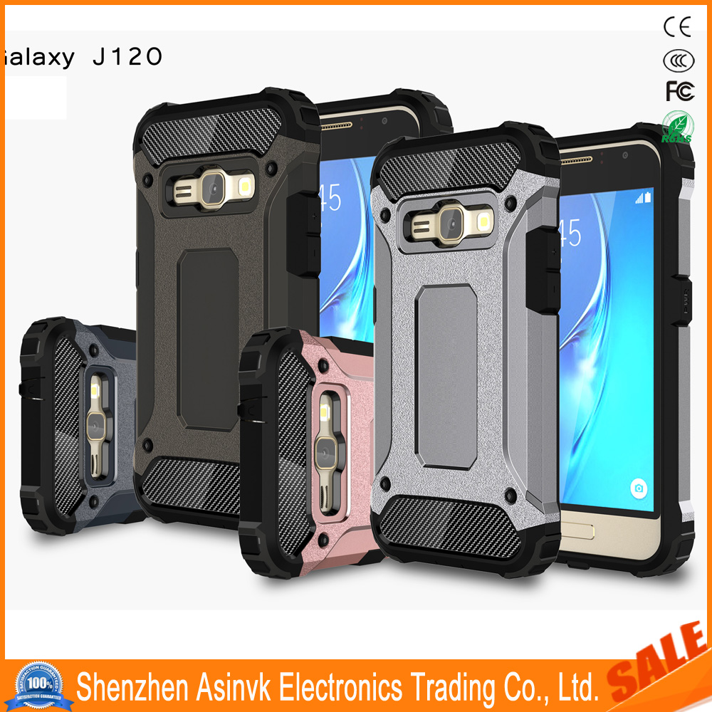 Rugged Hybrid Dual Layer Hard Shell Armor Slim Fit Defender Shockproof Protective case For Samsung Galaxy Luna /J1 2016/J120