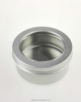 50g 100g aluminum can with clear window for wax cosmetic