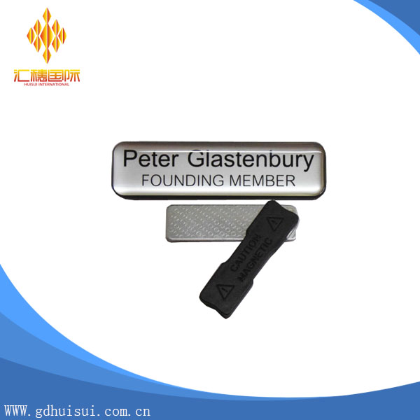 wholesale custom metal blank name tags with high quality no minimum