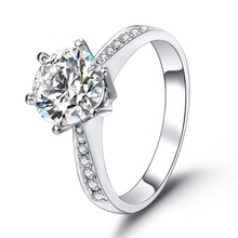 Customized fine jewelry fashion jewellery classic diamond 18k white gold engagement ring wedding ring