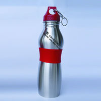 Stainless Steel Cheap Water Bottles With Silicone Band