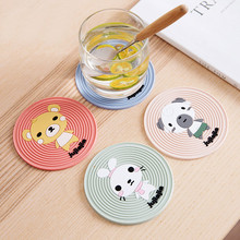 BPA Free Food Grade PTFE Silicone Baking Anti-slip Cup Mat Or Coaster With Custom Printing