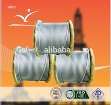 Top quality! API oil rig drilling rig equipment steel wire rope/ drilling line API1-9A Specialized in oil rigs coated surface