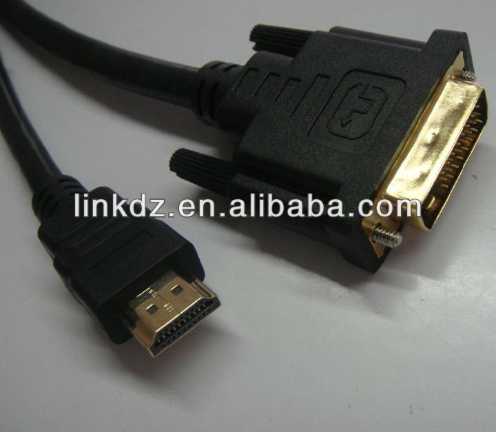 3D hdmi TO DVI 24+1 SINGLE LINK CABLE FOR MONITOR