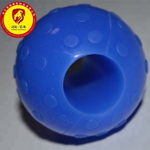 Custom made Natural Rubber /EPDM/Neoprene/Silicone rubber Ball with round square hole