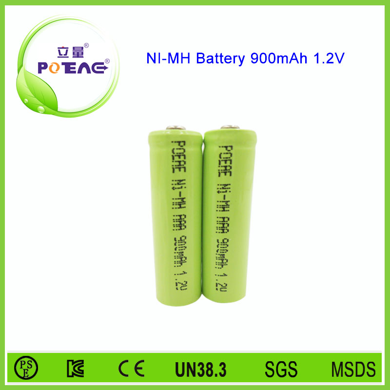 Without memory effect 1.2V 900mah aaa size ni-mh battery