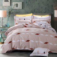 Natural colored cotton modern bed sheet sets holiday bedding set