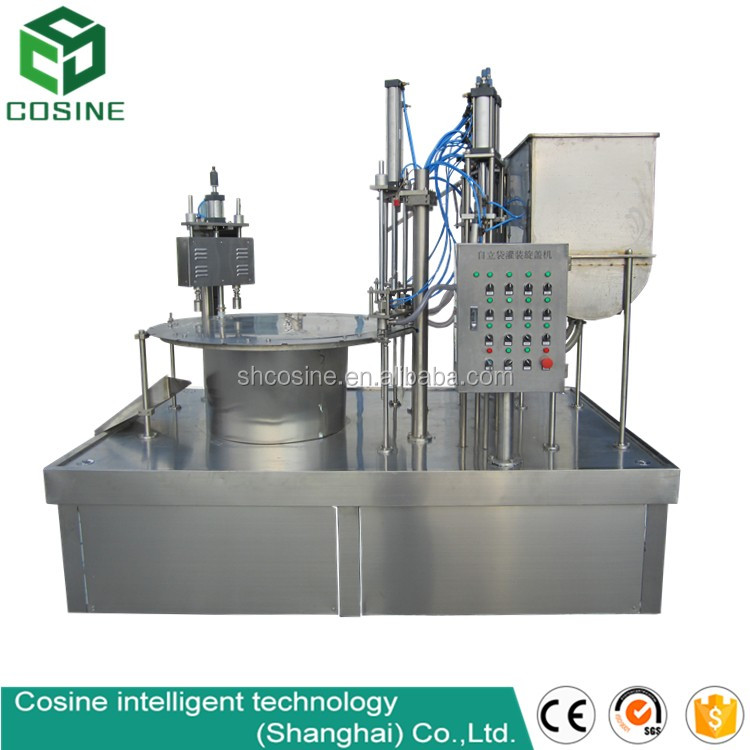 Self standing pouch filling sealing machine/liquid filling machinery/thermoforming and filling machine