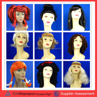 2015 cheap fashion synthetic hair wigs red colored cosplay party wigs for wholesale PGW-3126