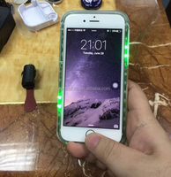 Color changing flashing light led mobile phone case for iphone