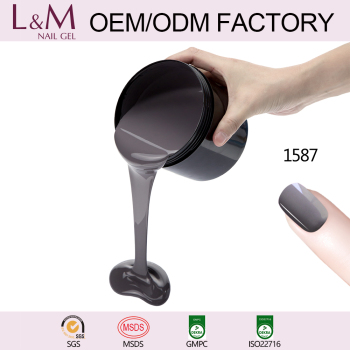 L&M Manufacturer Bulk Package Soak Off Pure Color UV Gel Polish