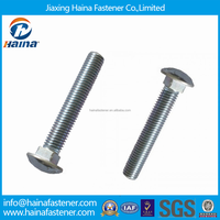 In Stock DIN603 Mushroom Head Chrome Plated Square Neck Bolts