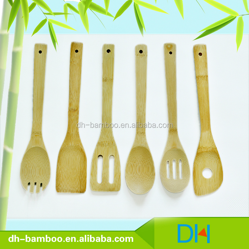 Wholesale Eco-friendly Kitchen Accessories Bamboo Spatula Set for Cooking