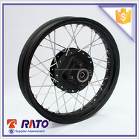 China 3.0*17 black motorcycle steel wheel clearance sale