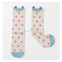 Knee High Sock Baby Girl Fox Socks With Dot Cotton Cute Cartoon Animal Socks