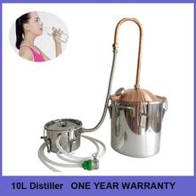 New arrival 10L/3Gal good sealed copper lid pipe home alcohol grappa distiller