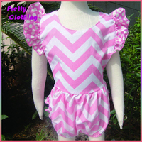 Cotton ruffle cap sleeve girls rompers petti chevron shorts skirt backless costume baby girl dress prices