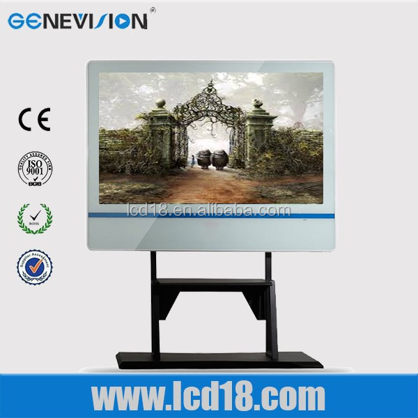 55 inch lcd display gas station advertising monitor with stand