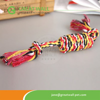 2015 new hot sale bone-shape cotton rope pet toys for dog