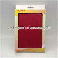 2013 newest tablet back protective case for mini ipad & ipad mini cover leather with dormancy function,our own packing
