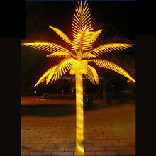 led coconut palm tree light,long life span landscape palm tree with led light