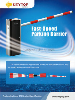 KEYTOP IP55 intelligent remote control car parking boom barrier gate for more than 2 million operation times