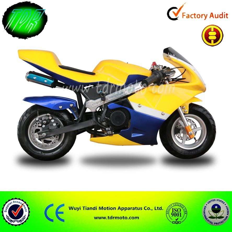 Pocket Bike 47CC 49CC 50CC Mini Pocket Bike for sale cheap, made by TDRMOTO