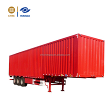 CHTC 60ft container carrier 13 meter 3 axles flatbed semi trailer