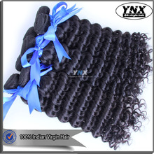 2016 hot new retail products elastic and glossy deep curly Indian hair, natural raw virgin indian deep curly hair
