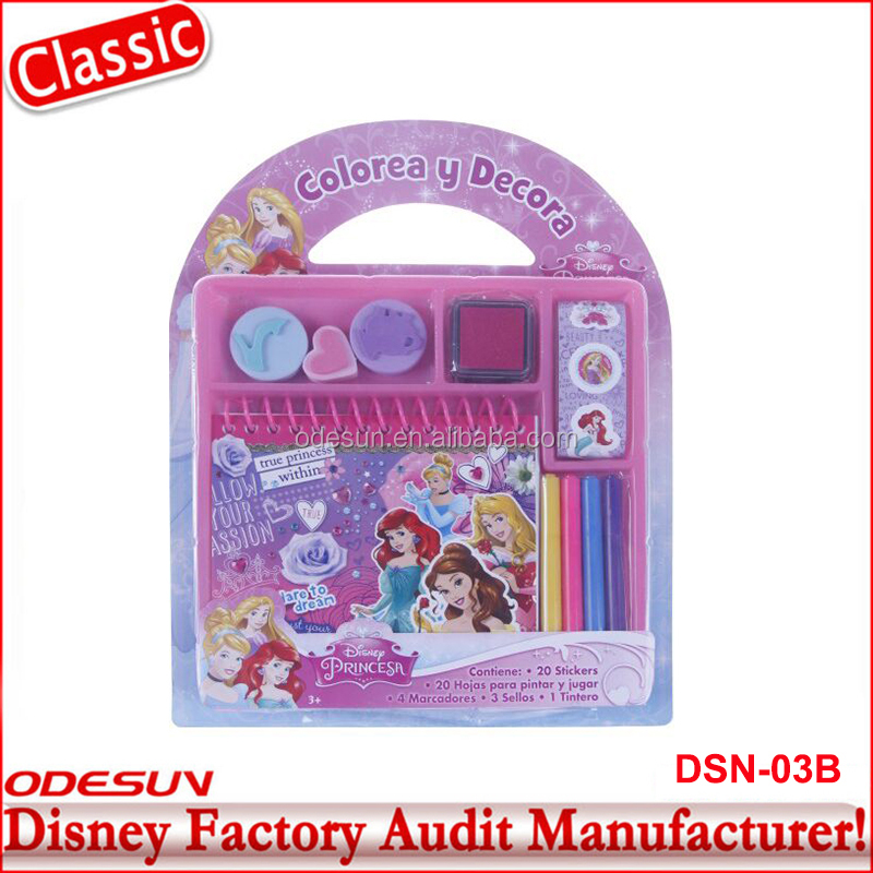 Disney Universal BSCI Carrefour Factory Audit Kungfu Panada Princess Stationery Products List Set 19