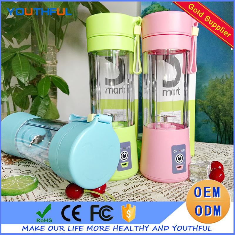 2000mAh High Quality Best Price Portable Electric Rechargeable Juicer Blender Cup with USB Port