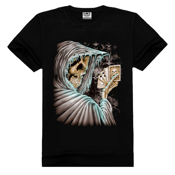 Skull cotton tees,t shirts top tee,graphic tee