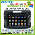 ZESTECH car dvd gps for Honda CRV 2012 car dvd gps with 4.2.2 android media player 3G Wifi mp5 player