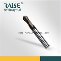 carbide ball end mill HRC55 2F-R5*100L Carbide Material and AlTiN Coating End Mill