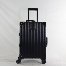"Low price 20""/24"" 360 Degree Universal Wheels abs pc luggage with lock aluminum trolley sets"