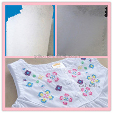 fuse or no fused cotton nonwoven interlining,tearaway interlining for embroidery backing