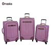 Baigou factory export cheap price PU luggage hot sales cheap PU luggage bag for Mid East market