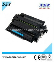 China manufacturer of office supply laser printer cartridge toner CE255X compatible toner cartridge for HP printer