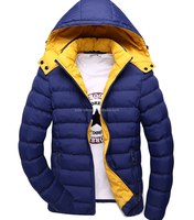 2014 winter padded jacket man black color keep warm padded down jacket clothing wholesale