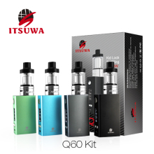 Itsuwa Q60 kit 18650 battery adjustable temperature control with glss tube vape