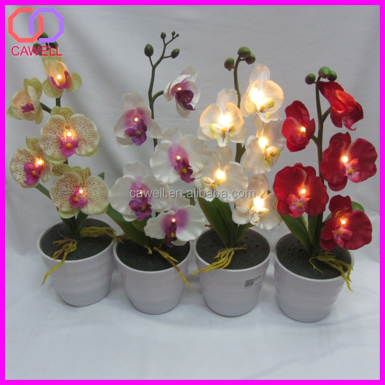 artificial flowers orchid pot