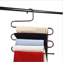 S-type 5 Layers Pants Trousers Hanger/clothing metal hangers/Multi Layer folding Metal clothes Rack