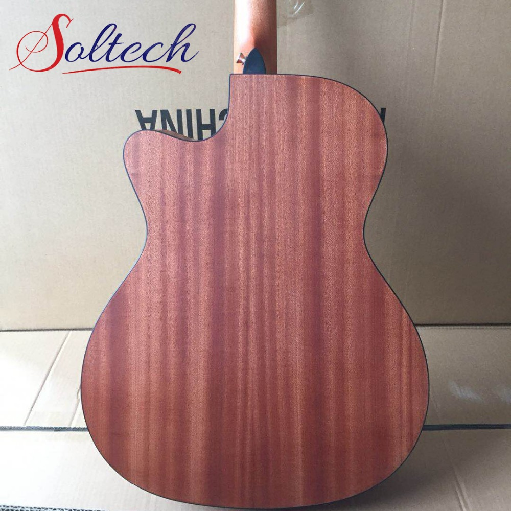 Plywood Sapele Acoustic Guitar ST-01PS Soltech