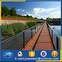 ss rope bridge cable fence / cable railing rope fence
