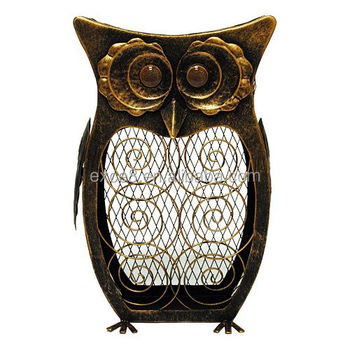 Best selling products Metal Owl Cork Collector decoration