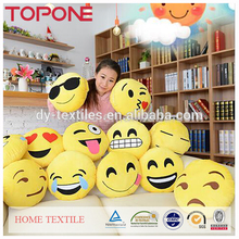 China Selling Top Quality Plush Soft Touch Feeling Pattern Emoji Decorative Pillows