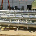 Galvanized Polygonal Communication Monopole shaft rods trunk for telecom project