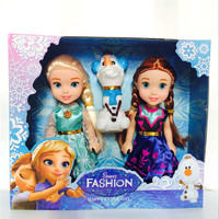 New Arrival 7'' Frozen Elsa Anna doll set mini 3 in 1 frozen doll mini frozen toy