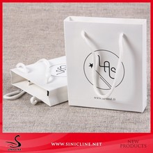 Sinicline custom recycled white cloth packaging bag with logo